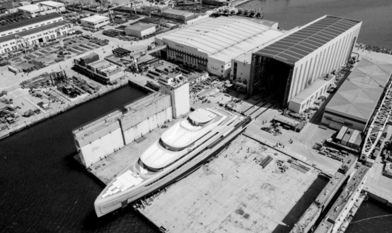 88.5m Superyacht Illusion Plus before launch